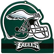 Party Animal Philadelphia Eagles Embossed Metal Helmet Sign
