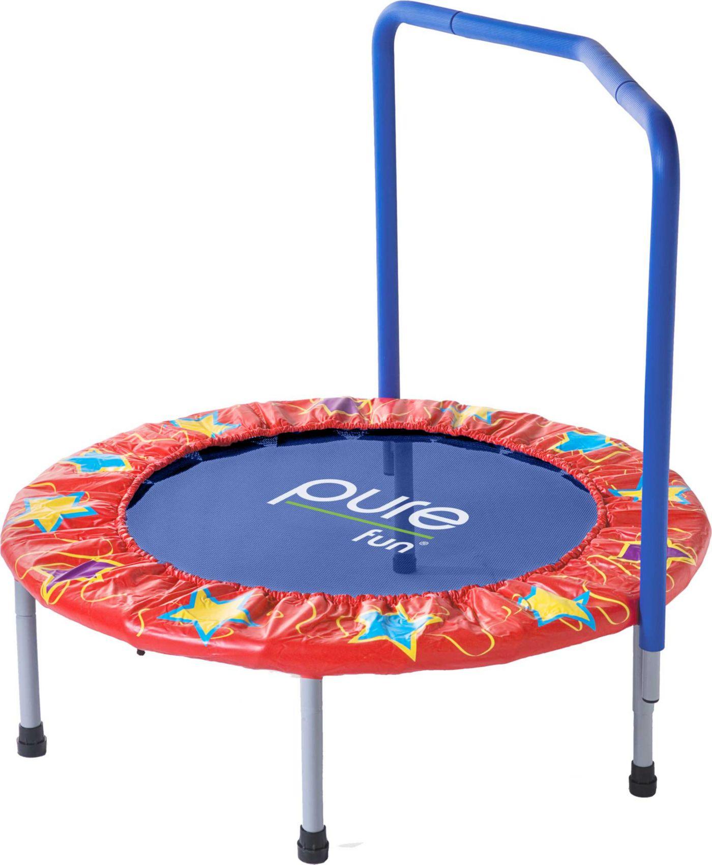 "Pure Fun 36"" Kids Trampoline with Handrail"