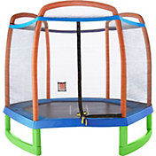 Pure Fun 7-Foot Trampoline with Tic Tac Toe
