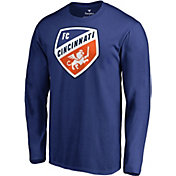 MLS Men's FC Cincinnati Crest Blue Long Sleeve Shirt