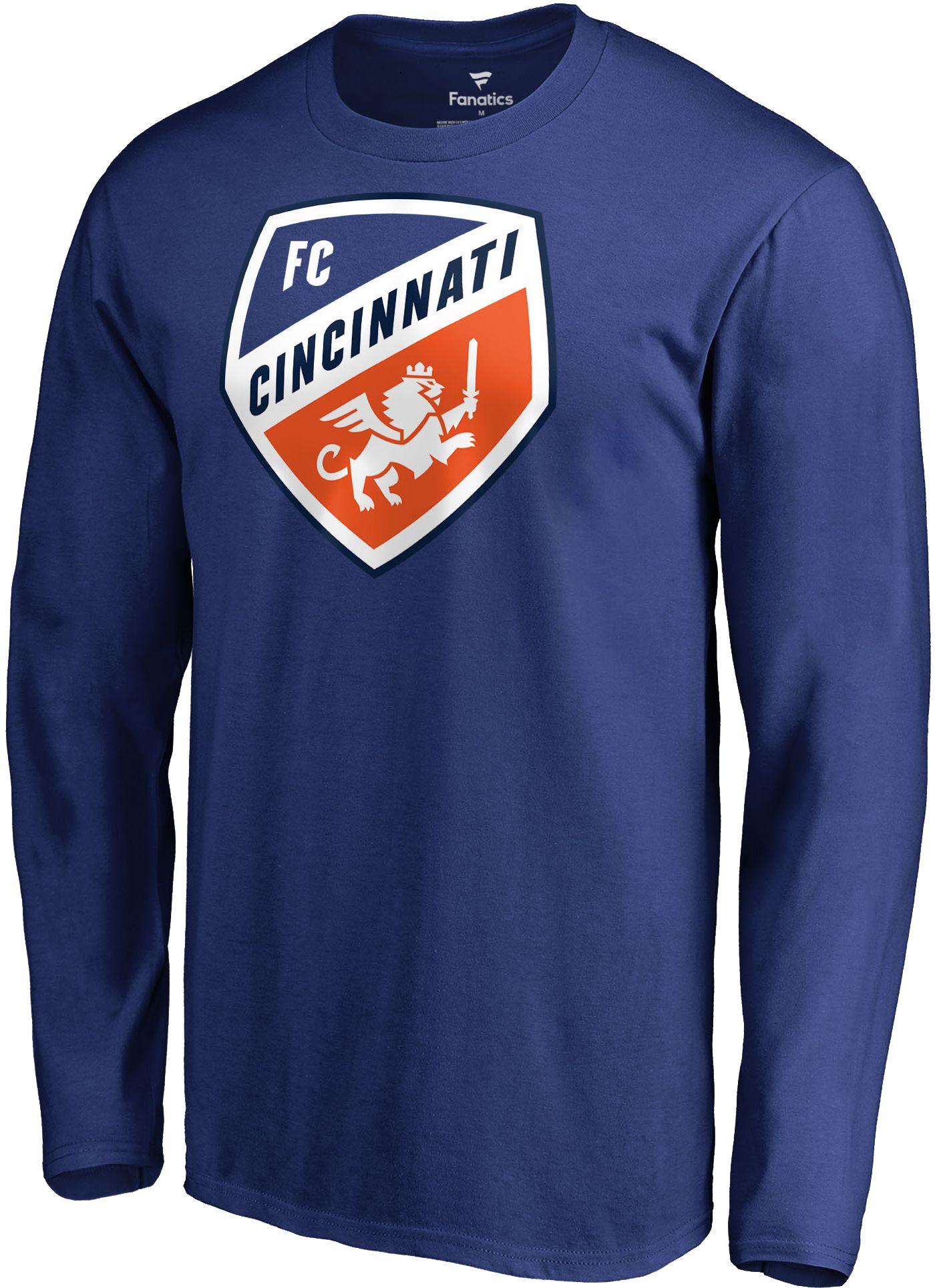 MLS Men's FC Cincinnati Crest Blue Long Sleeve Shirt
