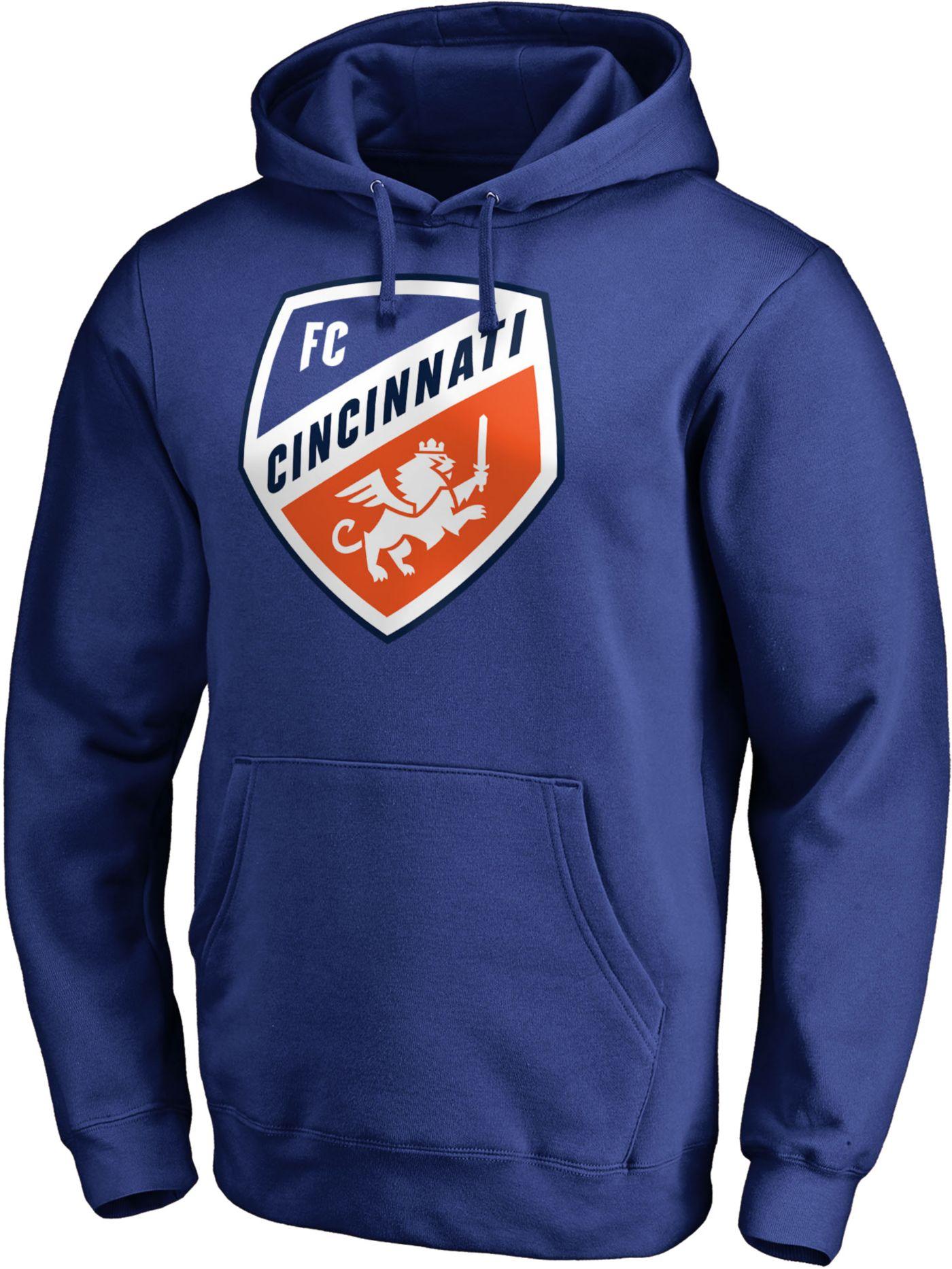 MLS Men's FC Cincinnati Crest Blue Hoodie