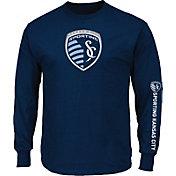 Majestic Men's Sporting Kansas City Global Blue Long Sleeve Shirt