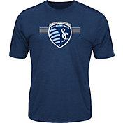 Majestic Men's Sporting Kansas City Anthem Advanced Navy T-Shirt