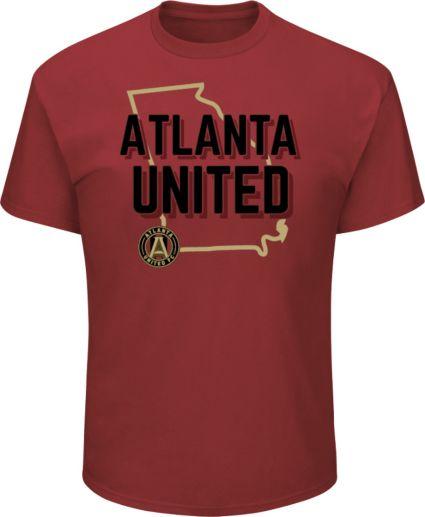 Majestic Men's Atlanta United Win Capital Red T-Shirt