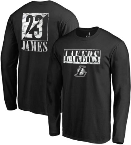 NBA Men s Los Angeles Lakers LeBron James Black Long Sleeve Shirt.  noImageFound f440fb43d