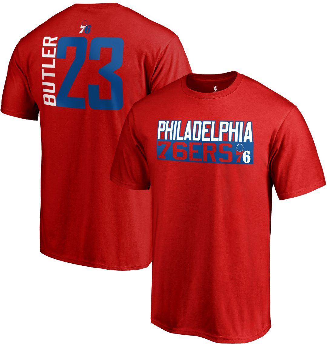 reputable site 0e012 1f134 NBA Men's Philadelphia 76ers Jimmy Butler #23 Red T-Shirt