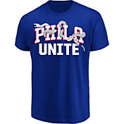 "Fanatics Men's Philadelphia 76ers ""Phila Unite"" Royal T-Shirt"