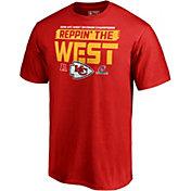 NFL Men's Kansas City Chiefs AFC West Division Champions T-Shirt