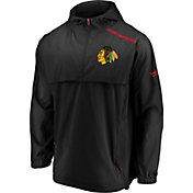 NHL Men's Chicago Blackhawks Authentic Pro Black Anorak Jacket