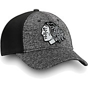NHL Men's Chicago Blackhawks Black and White Flex Hat
