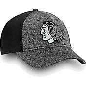 NHL Men's Chicago Blackhawks Black and White Flex Hat