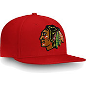NHL Men's Chicago Blackhawks Core Logo Red Snapback Adjustable Hat