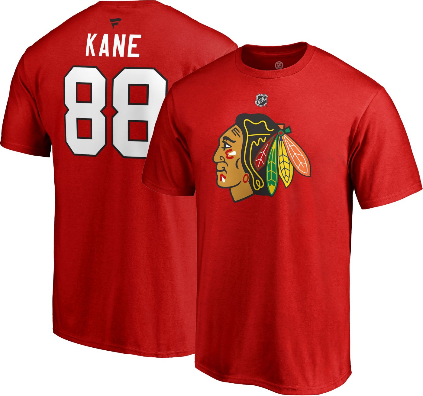 NHL Men's Chicago Blackhawks Patrick Kane #88 Red Player T-Shirt