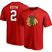 NHL Men's Chicago Blackhawks Duncan Keith #2 Red Player T-Shirt