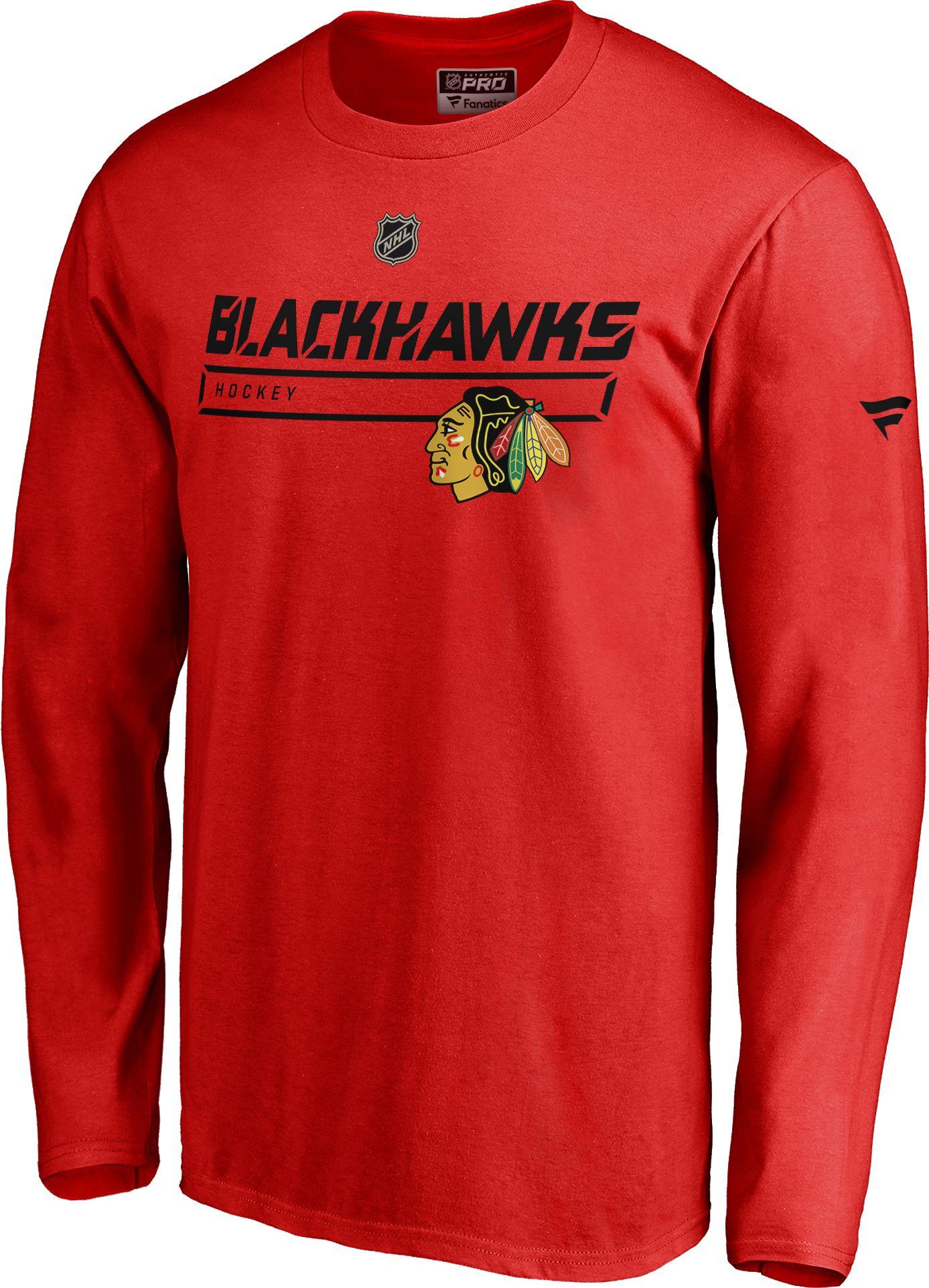 1b0743522 Reebok Chicago Blackhawks Long Sleeve T Shirt - Cotswold Hire