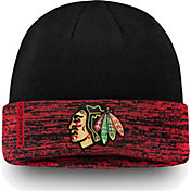 NHL Men's Chicago Blackhawks Authentic Pro Rinkside Red Cuffed Knit Beanie