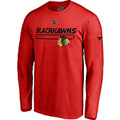 NHL Men's Chicago Blackhawks Authentic Pro Prime Red Long Sleeve Shirt