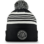 NHL Men's 2019 Winter Classic Chicago Blackhawks Black Pom Knit Beanie