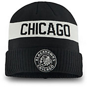 NHL Men's 2019 Winter Classic Chicago Blackhawks Black Cuffed Knit Beanie