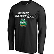 NHL Men's 2019 Winter Classic Chicago Blackhawks Alternate Logo Black Long Sleeve Shirt