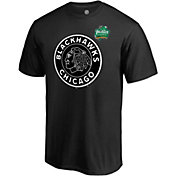 NHL Men's 2019 Winter Classic Chicago Blackhawks Logo Black T-Shirt
