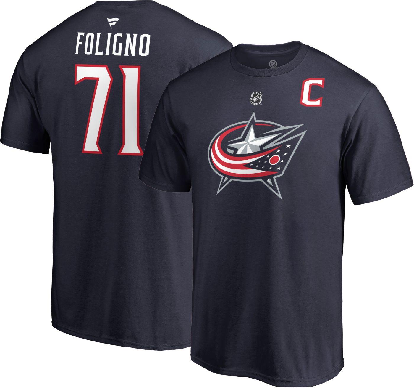 NHL Men's Columbus Blue Jackets Nick Foligno #71 Navy Player T-Shirt
