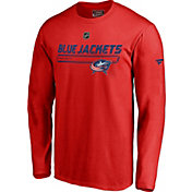 NHL Men's Columbus Blue Jackets Authentic Pro Prime Red Long Sleeve Shirt