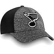 NHL Men's St. Louis Blues Black and White Flex Hat