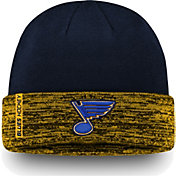 NHL Men's St. Louis Blues Authentic Pro Rinkside Navy Cuffed Knit Beanie