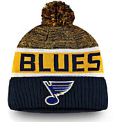 NHL Men's St. Louis Blues Authentic Pro Rinkside Goalie Navy Cuffed Knit Beanie