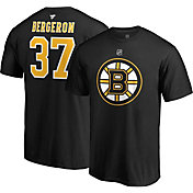 NHL Men's Boston Bruins Patrice Bergeron #37 Black Player T-Shirt