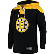 NHL Men's Boston Bruins Breakaway Black Pullover Sweatshirt