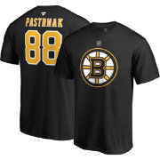 NHL Men's Boston Bruins David Pastrnak #88 Black Player T-Shirt