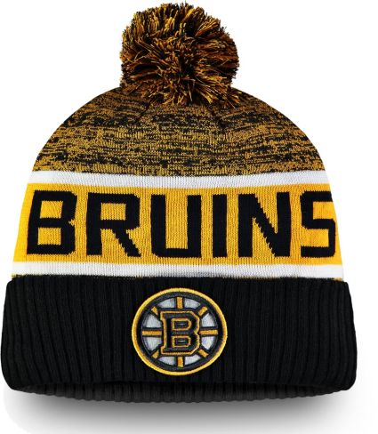 0c95afad4a5 NHL Men s Boston Bruins Authentic Pro Rinkside Goalie Black Cuffed Knit  Beanie