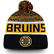NHL Men's Boston Bruins Authentic Pro Rinkside Goalie Black Cuffed Knit Beanie