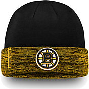 NHL Men's Boston Bruins Authentic Pro Rinkside Gold Cuffed Knit Beanie