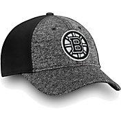 NHL Men's Boston Bruins Black and White Flex Hat