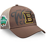NHL Men's 2019 Winter Classic Boston Bruins Trucker Brown Adjustable Hat