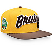 NHL Men's 2019 Winter Classic Boston Bruins Logo Gold Snapback Adjustable Hat
