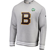 NHL Men's 2019 Winter Classic Boston Bruins Authentic Pro Crew Neck Grey Sweater