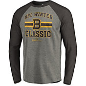 NHL Men's 2019 Winter Classic Boston Bruins Vintage Grey Long Sleeve Shirt