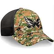 NHL Men's Washington Capitals Camo Mesh Trucker Flex Hat