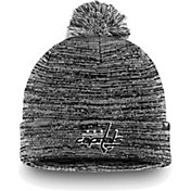 NHL Men's Washington Capitals Black and White Pom Knit Beanie