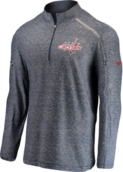 NHL Men s Washington Capitals Authentic Pro Clutch Navy Heathered  Quarter-Zip Pullover. noImageFound 8bab2c525