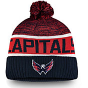 NHL Men's Washington Capitals Authentic Pro Rinkside Goalie Navy Cuffed Knit Beanie