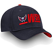 NHL Men's Washington Capitals Authentic Pro Rinkside Alpha Navy Adjustable Hat