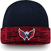 NHL Men's Washington Capitals Authentic Pro Rinkside Navy Cuffed Knit Beanie