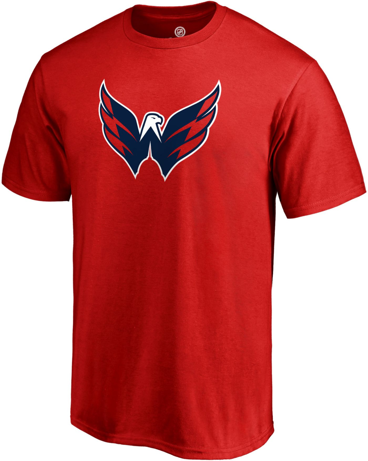 NHL Men's Washington Capitals Big Logo Red T-Shirt