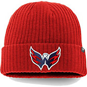 NHL Men's Washington Capitals Logo Red Cuffed Knit Beanie